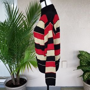 Dress Barn Sweaters - Dressbarn black, shimmer gold, and red sweater